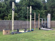 Crossfit outdoor gym, now there is no excuse not to train.