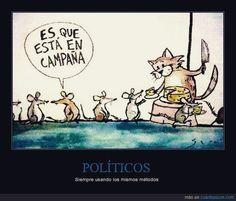 Así son las campañas de algunos PPartidos. #FelizDomingo Positivity, Instagram, Messages, Comics, Monopoly, Frases, Sunday Humor, Happy Sunday, Humor In Spanish