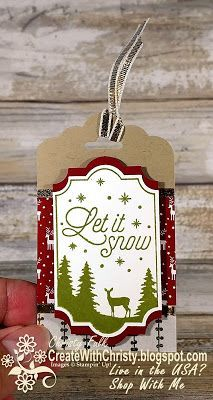 Complete Instructions included -   Stampin' Up! Merry Little Labels Bundle - handmade Christmas tag -   Create With Christy: The Remarkable InkBig Blog Hop - Christy Fulk, Independent SU! Demo