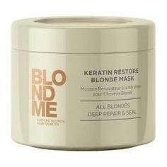 Schwarzkopf Professional BlondMe Keratin Restore Blonde Mask intensively repairs the internal structure and strengthens hair elasticity.