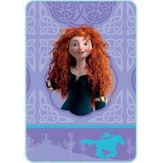 "Disney Pixar Brave Merida Twin Plush Blanket 62"" x 90"" ** Visit the image link more details. (This is an affiliate link) #KidsFurnitureDcorStorage"