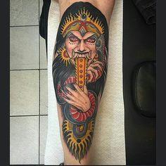 Randga Witch tattoo by @yonmar_c at  LaMain Bleue in Belgium Germany #yonmarc #lamainbleue #belgium #germany #witch #witchtattoo #rangda #rangdawitch #rangdawitchtattoo #tattoo #tattoos #tattoosnob by tattoosnob