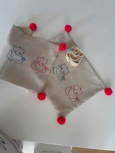 Handprinted ganesha pillow