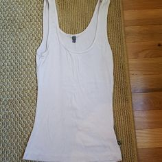 James Perse Tank ivory, off white tank. good condition and gently worn. slightly frayed on the bottom. the back reads PAIX. James Perse Tops Tank Tops