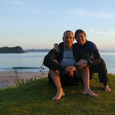 Gearing up for an early morning paddle on one of our all time favourite beaches - Hahei Beach, Coromandel.