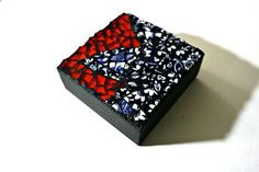 4 inch Mosaic Artist Block - Japanese Maple Leaf - FREE SHIPPING Within US