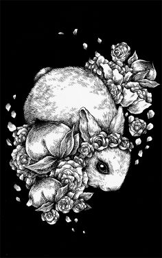 Rabbit and Peaches
