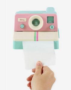 Distributeur de papier toilette polaroid - Polaroll Pink