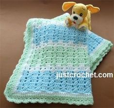 Free baby crochet pattern for pastel blanket…