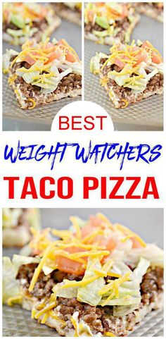 EASY Weight Watchers taco pizza recipe Weight Watchers taco pizza everyone will love. Super yummy Weight Watchers diet recipe learn how to make Weight Watchers taco pizza that taste so delicious. Weight Watchers Freezer Meals, Weight Watchers Sides, Weight Watchers Meal Plans, Weight Watchers Snacks, Weight Watcher Dinners, Weight Watchers Meatloaf, Taco Pizza, Pizza Snacks, Keto Snacks