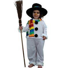 #Disfraz de muñeco de nieve infantil.  Kids #snowman #costume.#navidad