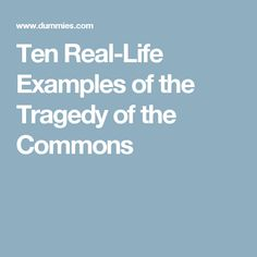 Ten Real-Life Examples of the Tragedy of the Commons