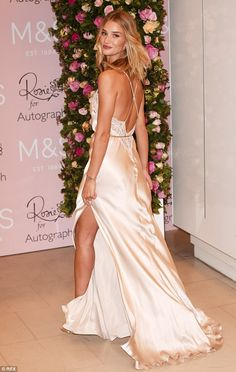 Rosie now 27 years old wore a nightgown from her own range at the Rosie For Autograph fragrance launch in London on Thursday 29th 2015