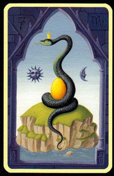 Significado Carta Tarot LENORMAND - La Serpiente