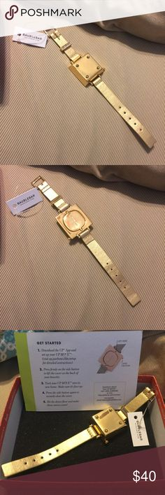 NWT baublebar gold bracelet for Jawbone Up Move NWT sold out online everywhere! Gold bracelet that can be worn solo or with your Jawbone Up Move (not included) activity fitness tracker!! Baublebar Jewelry Bracelets