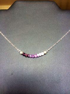 Amethyst faceted beads in ombré arrangement! Necklace, bracelet or anklet!!! www.etsy.com/shop/vantassellandnash