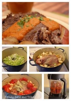 Delicious and easy pot roast topped with an aromatic vegetable gravy. One pot meal. Easy Pot Roast, Beef Pot Roast, Pot Roast Vegetables, Healthy Dinner Recipes, Delicious Recipes, Main Meals, Family Meals, Slow Cooker, Dinners