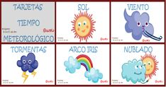 http://www.imageneseducativas.com/ Tarjetas Tiempo Meteorológico. Imprimibles