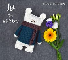 Crochet pattern PDF Amigurumi Lui the white Bear Garbi Artstudio