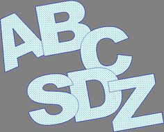 ABC Applique Template 2 Inch All Cap Letters by jammasgirls, $7.00