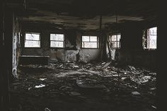 Photograph Of Deteriorating Abandoned Building. Fine Art Urban Decay Photography Prints and Wall Art.