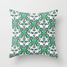 White Wedding Throw Pillow by RokinRonda - $20.00