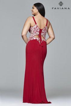 173b48fb64b Faviana Curve Plus Size Prom Dresses