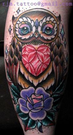 Owl #racheljamiemccarthy #Owl #tattoos