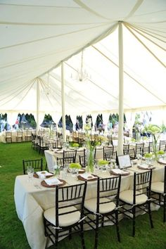 This would be their big tent for the reception it would go in the clearing thats pinned separate. The tables would be set up in this formation like this but they would look like the table placement that is also pinned separately. The dance floor would be right behind the bride and grooms table- which is in the middle of all the other tables.