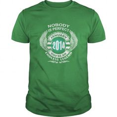 Make this funny birthday in month gift saying  01 January 2014 Month Year Born Birthday Shirts T Shirt Hoodie Shirt VNeck Shirt Sweat Shirt Youth Tee for Girl and Men and Family  as a great for you or someone who born in January Tee Shirts T-Shirts Legging Mug Hat Zodiac birth gift
