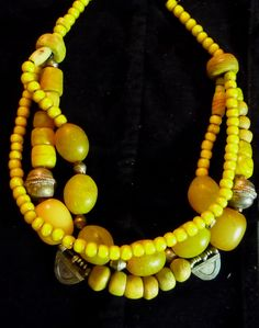 Old glass beads from Ethiopia, Hebron Beads, Ethiopian silver-metal beads white heart beads
