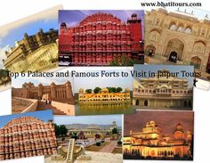 TOP 6 PALACES AND FAMOUS FORTS TO VISIT IN JAIPUR TOURS