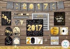 2017 New Years Party Decorations // Printable by LivisPrintables