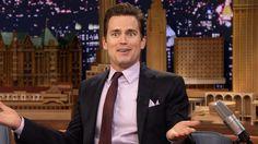 Ooooh that tongue of yours Matt Normal Heart, Nbc Tv, Tonight Show, Watch Full Episodes, Matt Bomer, Perfect Man, It Cast, Jimmy Fallon, Beauty
