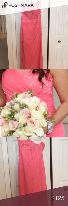 Long, pink dress. Warn once, looks just like new. Pink, long dress. worn once as a bridesmaid dress. Dresses Wedding