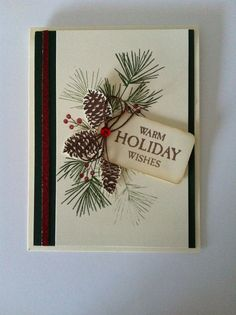 CTMH Perfectly Pine and Hello Winter Christmas Card