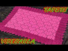 Tapete de Crochê Coração - YouTube