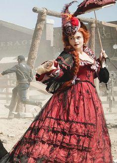 Helena Bonham Carter as Red Harrington in 'The Lone Ranger' (2013). Costume Designer: Penny Rose