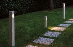 Ela 308 Outdoor Path Lamp By Oluce Lighting modern-path-lights Garden Path Lighting, Outdoor Pathway Lighting, Bollard Lighting, Outdoor Light Fixtures, Landscape Lighting, Outdoor Lamps, Sidewalk Lighting, Yard Lighting, Modern Path Lights