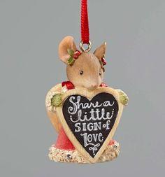 Heart of Christmas Ornaments by Karen Hahn for Enesco at Fiddlesticks