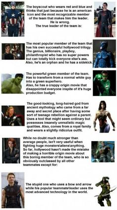 Lol, avengers and justice league.