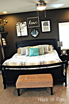 Master Bedroom Makeover - Can I just copy it ALL!?! Already saw and loved the wall decor, now I've seen the rest of the room and am in LOVE!
