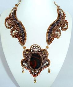 Unique shaping, beaded necklace