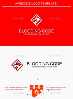 Blooding Code Logo — Vector EPS #clean #time • Available here → https://graphicriver.net/item/blooding-code-logo/9427334?ref=pxcr