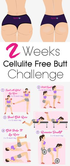 2 Weeks Cellulite Free Butt Challenge...