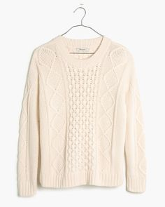 madewell classic cable pullover sweater
