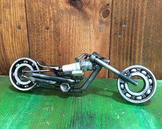 On Sale Motorcycle Spark Plug Motorcycle Recycled Metal Metal Art Projects, Welding Projects, Sturgis Bike Week, Industrial Style Lamps, Honda Cbr 1000rr, Steel Art, Scrap Metal Art, Automotive Decor, Welding Art