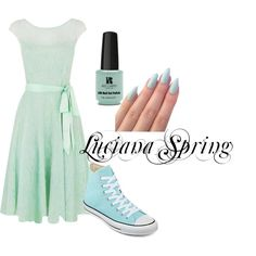 Luciana Spring by aphdenbloodworth on Polyvore featuring Kaliko, Converse and Red Carpet Manicure