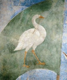 PIERO DELLA FRANCESCA - (1415 - 1492) - Battle between Heraclius and Chosroes (detail). Fresco. Basilica di San Francesco, Arezzo,Italy... I want my families crest to be the mighty fighting geese too!