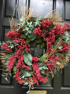 A personal favorite from my Etsy shop https://www.etsy.com/listing/547401083/fall-wreath-front-door-wreath